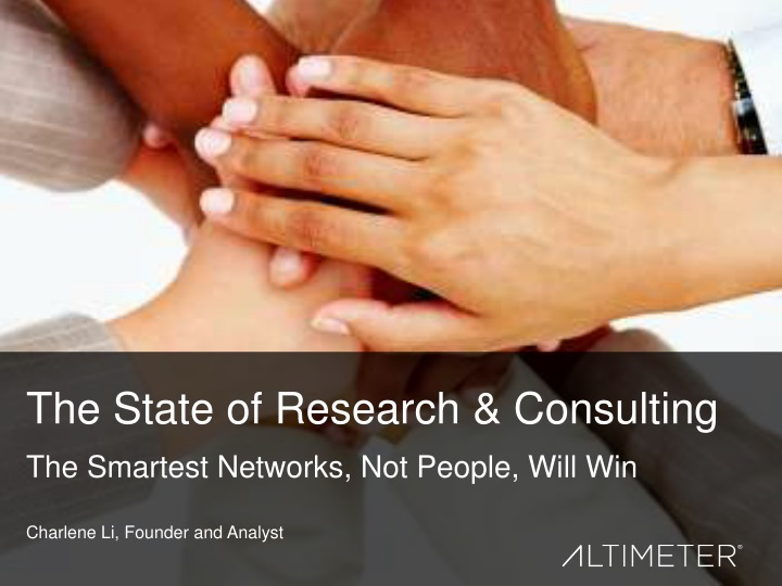 the state of research consulting n.