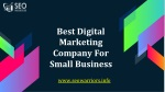 Best Digital Marketing Company For Small Business