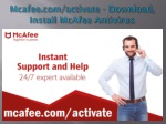 www.mcafee.com/activate - Download, Install McAfee Antivirus