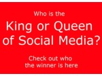 Who is the king or queen of social media   check it out here