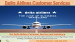 Delta Airlines Customer Services