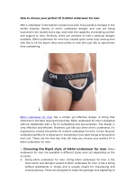 How to choose your perfect fit in bikini underwear for men
