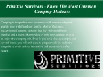 Primitive Survivors - Know The Most Common Camping Mistakes