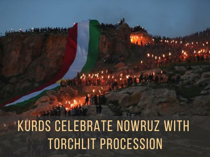 kurds celebrate nowruz with torchlit procession n.
