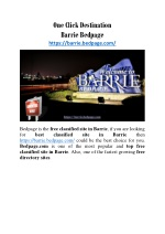 One Click Destination Barrie Bedpage!