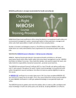 Why Nebosh Qualification is recommended for Health and Safety?