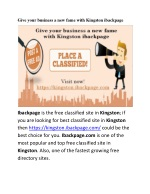 Give your business a new fame with Kingston ibackpage