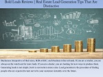 Bold Leads Reviews | Real Estate Lead Generation Tips That Are Distinctive