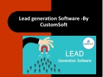 Lead Generation Software by CustomSoft