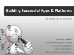 2012 Jiveworld: Building Successful Apps and Platforms