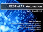 RESTful API Automation with JavaScript
