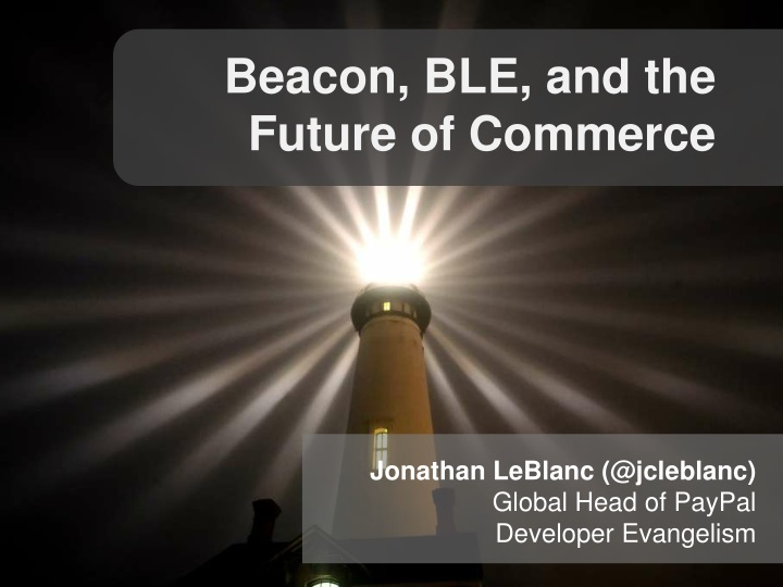 beacon ble and the future of commerce n.