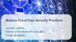 Modern Cloud Data Security Practices