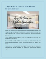 7 Tips How to Save on Your Kitchen Renovation Cost