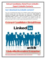 Extract Candidates Detail from LinkedIn - Export LinkedIn Contacts