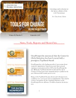 2015 September Tools for Change CGI Newsletter