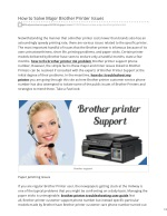 Brother Printer Support 1-855-855-4384 Phone Number Always Available For Help You