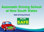 Automatic driving lesson at new south wales.