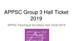 APPSC Group 3 Hall Ticket 2019