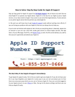 How to Solve Apple ID Issues: Call 1-855-557-0666