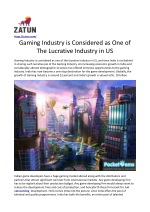 Gaming Industry is Considered as one of The Lucrative Industry in US