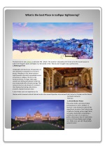 What is the best Place in Jodhpur Sightseeing?