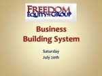 System builder train july 20th 2013
