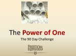 The power of one... 90 day challenge