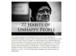 22 habits of unhappy people