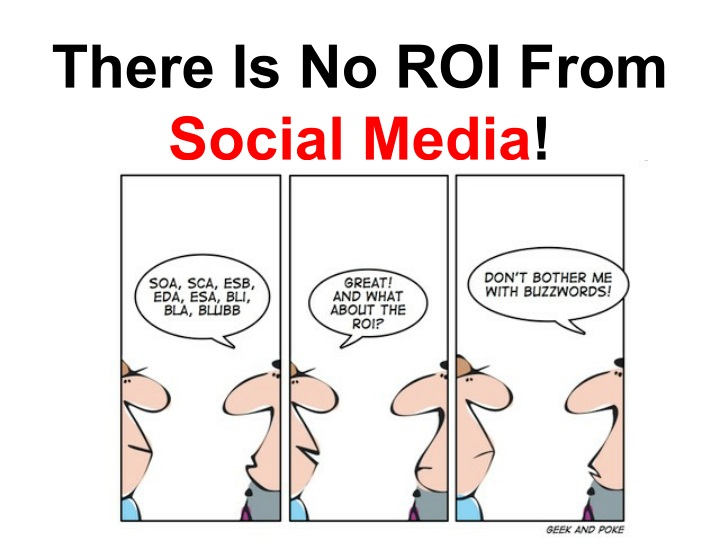 there is no roi from social media n.