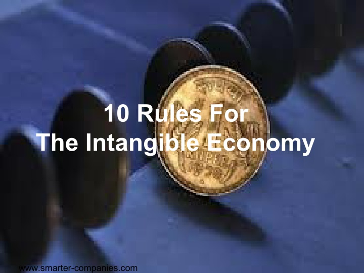 10 rules for the intangible economy n.