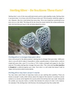 Sterling Silver – Do You Know These Facts - Aura Jewels