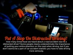 Put a stop on distracted driving!
