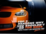 Top 5 reasons why you shouldn't go too dark with your car window tint