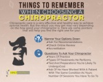 Things To Remember When Choosing A Chiropractor