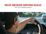 Top 6 most broken driving rules that you're probably guilty of
