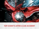 Top 8 don'ts after a car accident