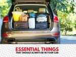 Essential things that should always be in your car