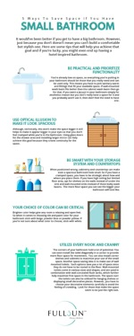 5 Ways To Save Space If You Have Small Bathroom