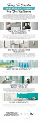 Things To Consider Before Purchasing Accessories For Your Bathroom