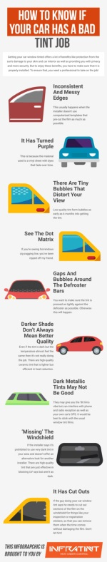 How to know if your car has a bad tint job