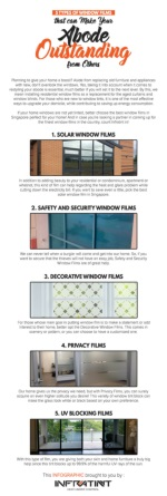 5 Types of Window Films that can Make Your Abode Outstanding from Others