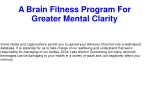 A Brain Fitness Program For Greater Mental Clarity