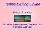 Tennis Betting Online For Betting Sites