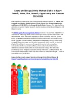 Global Sports and Energy Drinks Market Forecast-2024