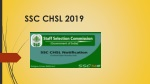 SSC CHSL 2019 Notification- Collect SSC CHSL Recruitment 2019 Detaied Info