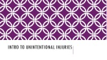 Intro to Unintentional Injuries