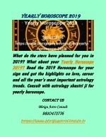 Yearly Horoscope 2019