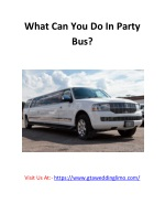 What Can You Do In Party Bus?