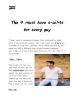 The 4 must have t-shirts for every guy